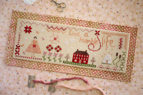 humble life cross stitch pattern - october house fiber arts journal