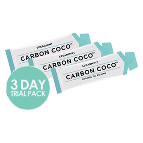 3 Day Trial Pack Carbon Coco Oil Pulling