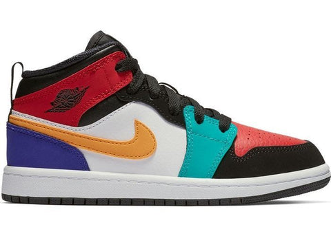 Air Jordan 1 Mid Bred Multi-Color (PS)