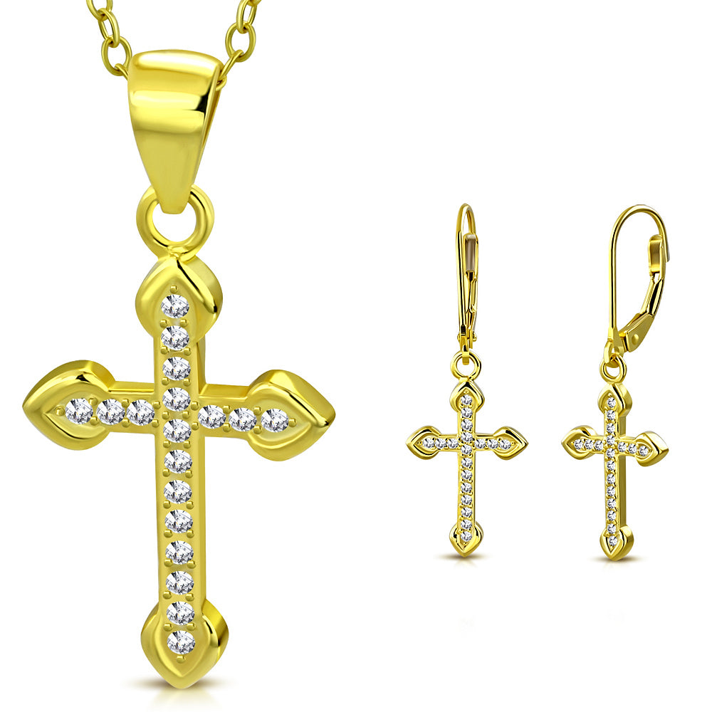 Yellow Cross Jewelry Set