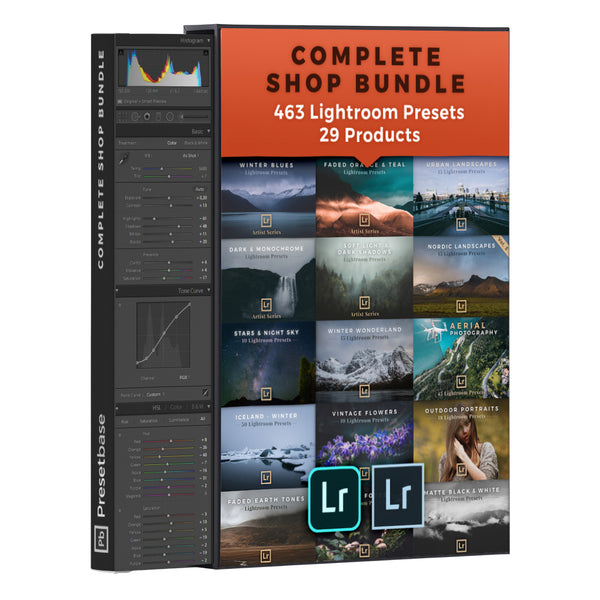 29 Products / 463 Lightroom Presets for Landscape & Travel Photography (Shop Bundle) | Presetbase
