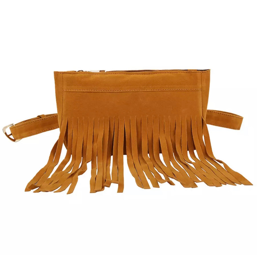 'Tarifa' Tan Tassel Bum Bag