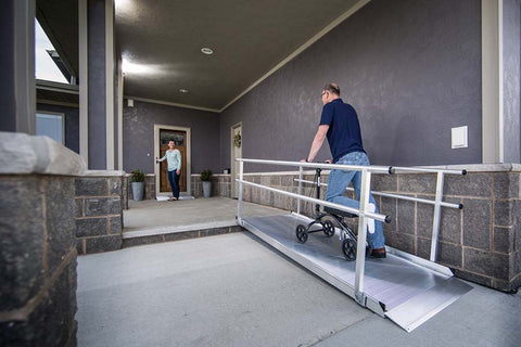 EZ-ACCESS Wheelchair Pathway Ramp with Handrails