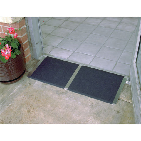 "PVI Aluminum Wheelchair Access Threshold Ramp (1/2"" - 4"")"