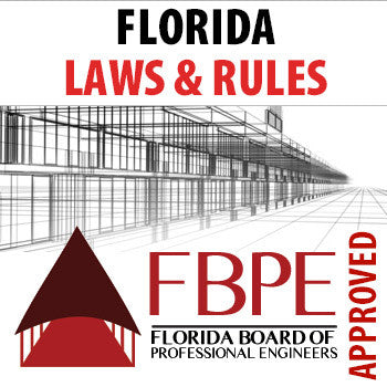 Florida Laws & Rules PDH Course for Engineers | 1 PDH - FBPE Approved Provider | EngineerXED.com