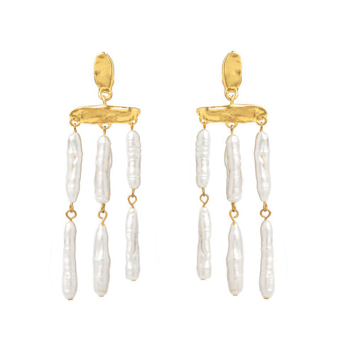 CECILE MOTHER OF PEARL EARRINGS