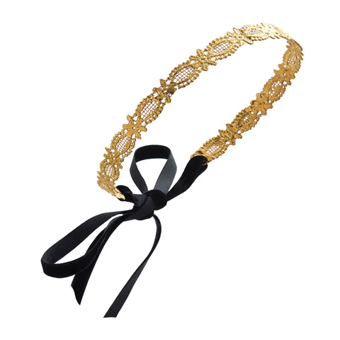 FLORALLY 24k GOLD-PLATED TIARA HEADBAND