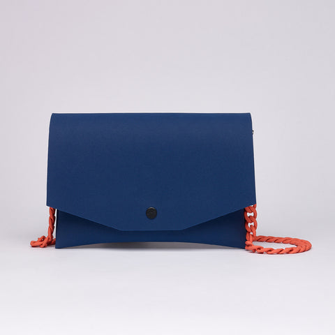 BLUE / ORANGE CLUTCH