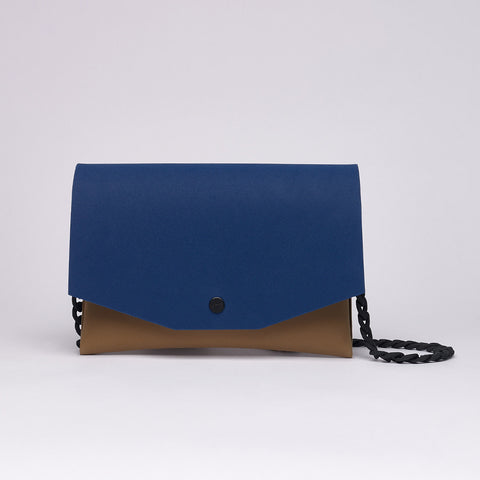 BLUE / TAN CLUTCH