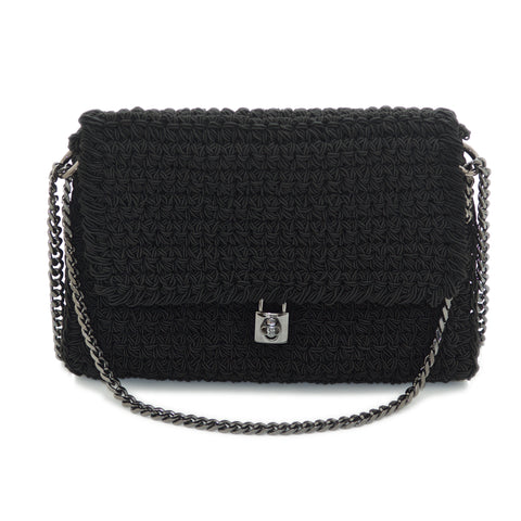 Crochet 'Lock' Shoulder Bag
