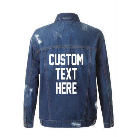 Best Friends Mid-Wash Distressed Denim Jacket