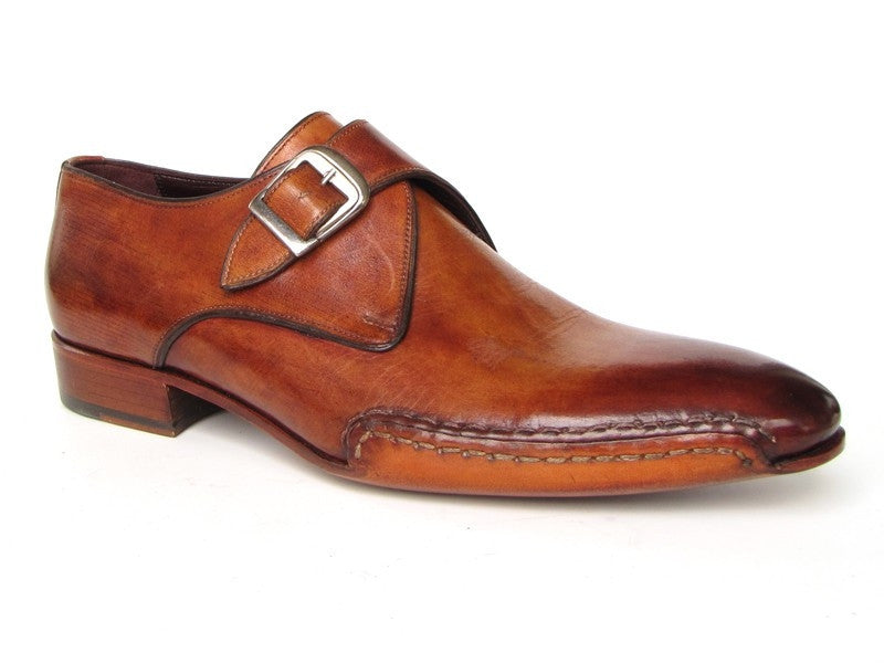 Tobacco Monkstrap Paul Parkman Shoes