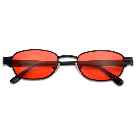 SMALL SQUARED OVAL COLOR TINT 90'S SUNGLASSES