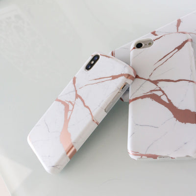 White Gold Marble Case