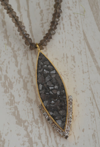 Shana Gulati Ameerah Necklace, Smoky Quartz Smoky Quartz