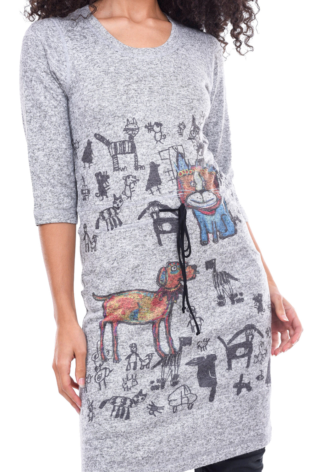 Inoah L/S Drawstring Dress, Show Time