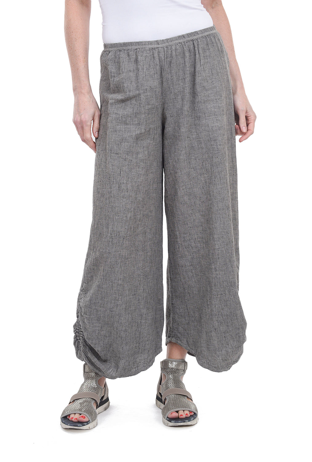 Cut Loose Crosshatch Ruched Pants, Lentil Taupe