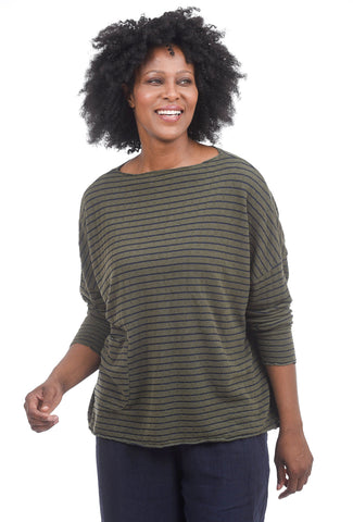 Cut Loose Looped FT Striped Pullover, Gris One Size Gris