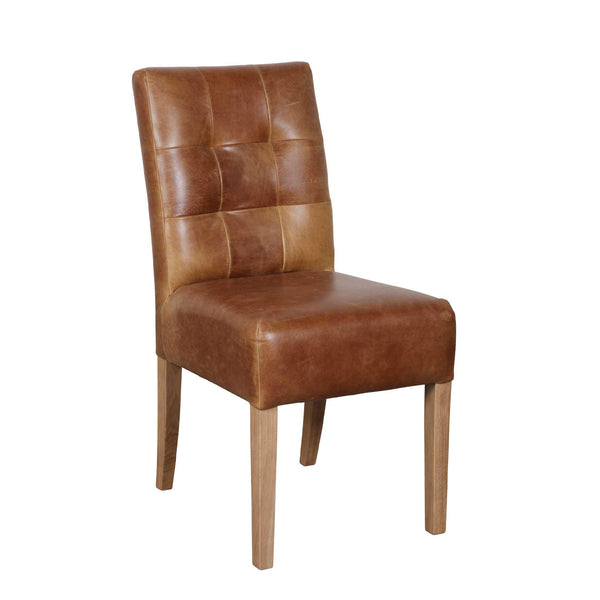 Campbell Chair - Brown Aniline Leather