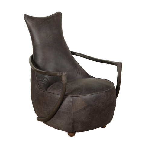 Billy Retro Relax Chair - Grey Leather