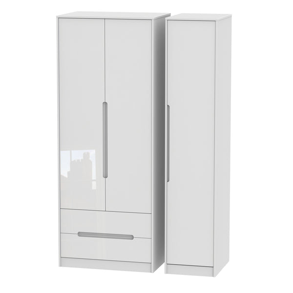 Chelsea Gloss - Tall Triple 2 Drawer Wardrobe