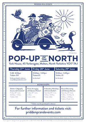 Sessions & Co. at Pop-Up of the North, June 27–29, York House, Malton