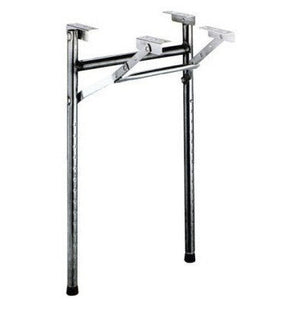 Folding Black Adjustable Poker Table Legs  (Pkg./2) - Casino Supply - 1