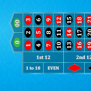 Classic Roulette Layout - LIGHT BLUE - Casino Supply - 1