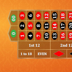 Classic Roulette Layout - ORANGE - Casino Supply - 1