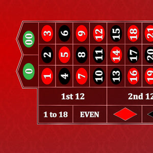 Classic Roulette Layout - RED - Casino Supply - 1