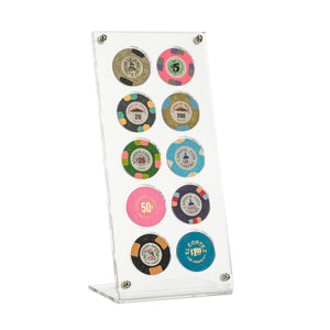 10 Poker Chip Museum Quality Acrylic Display Stand
