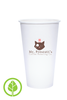 20oz Printed Eco-Friendly PLA-Lined Hot Cups - 300 pieces