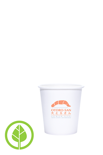 4oz Printed Eco-Friendly PLA-Lined Hot Cups - 1000 pieces