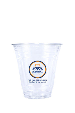 12oz Printed Clear Plastic PET Cup - 250 pieces