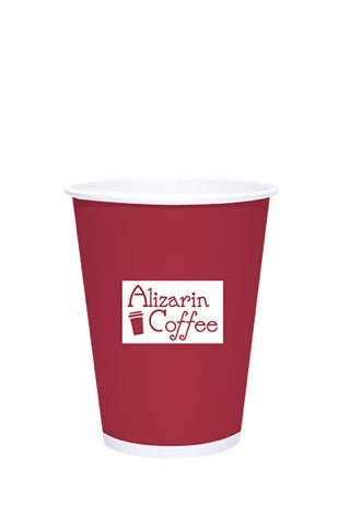 12oz Printed White Paper Hot Cups - 500 pieces