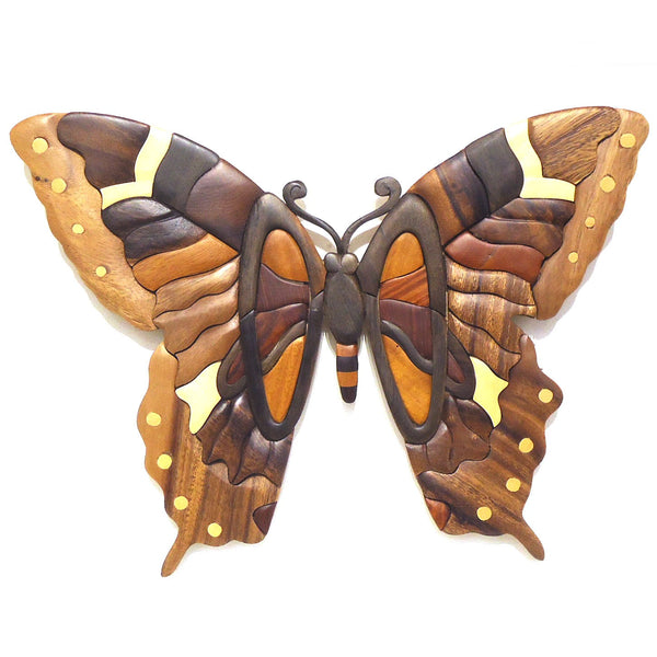 Wood Wall Sculpture: Butterfly