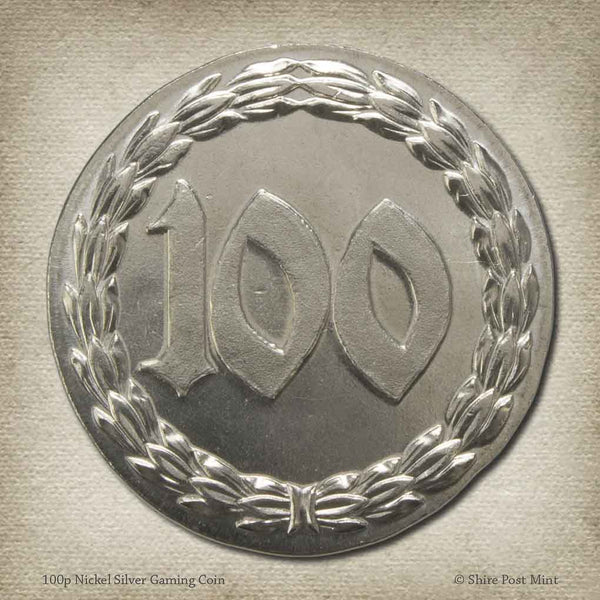 100p Nickel Silver Gaming Coin