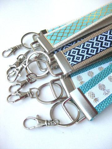 20 KEY FOBS Bulk- Womens Keychain Holder- Womens Key Ring- Womens Gift Idea Under 10
