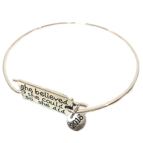 She Believed with 2018 Charm Bangle
