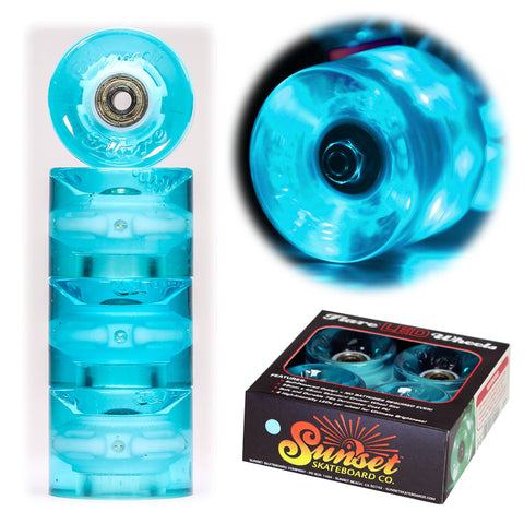 Aqua 59mm Cruiser Wheel Set with ABEC-9 Bearings (4-Pack)