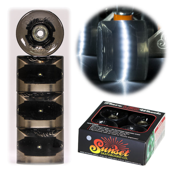 Smoke 59mm Cruiser Wheel Set with ABEC-9 Bearings (4-Pack)