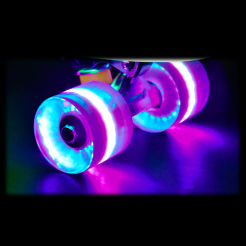 Blacklight 59mm Cruiser Wheel Set with ABEC-9 Bearings (4-Pack)