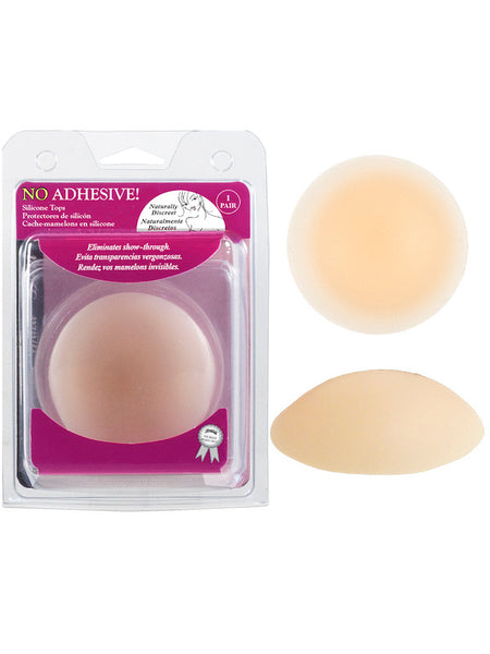 "Braza No Adhesive Silicone Tops - 3"" Reusable Nipple Covers - Bon Robe Lingerie"