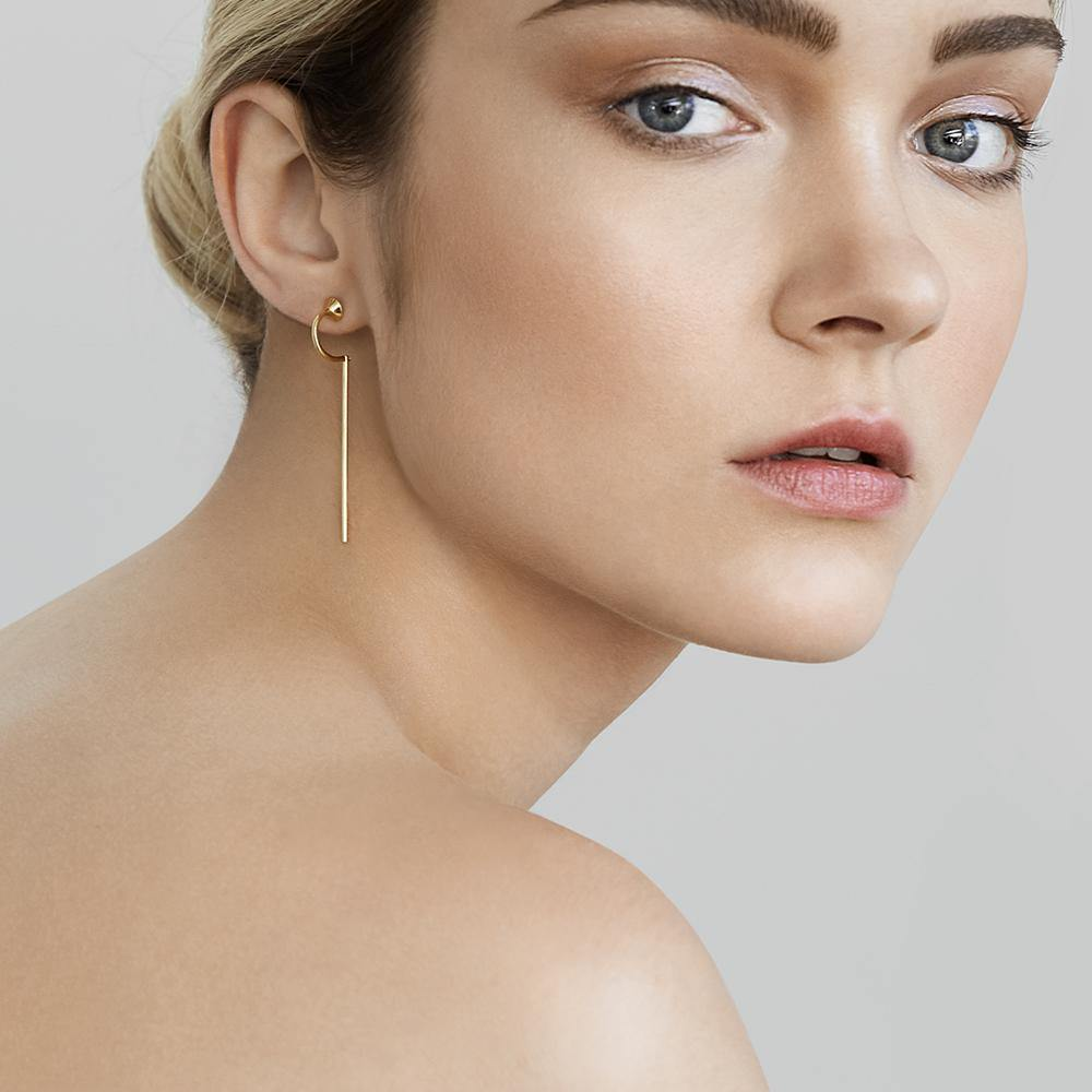 Orbit Meteor Heart Earrings