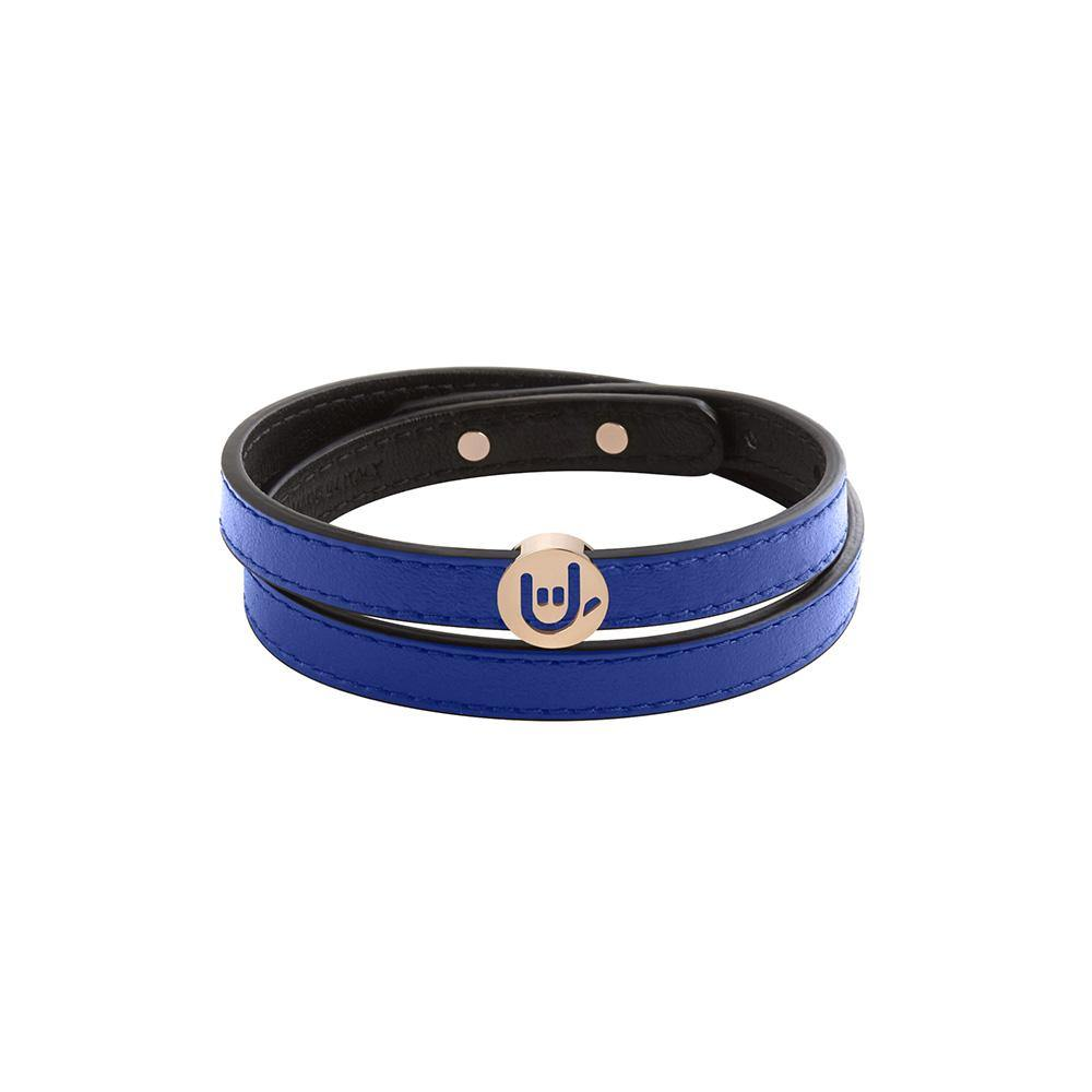 Pick Me Rock On Wrap Bracelet/Choker Blue