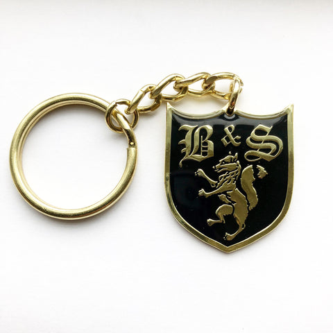 Fox Shield Enamel Keyring