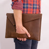 Soft leather handle. Macbook pro touch bar sleeve. 15inch 13inch laptop custom sleeve