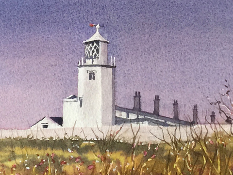 Lizard lighthouse Signed print 8 x 6 inches