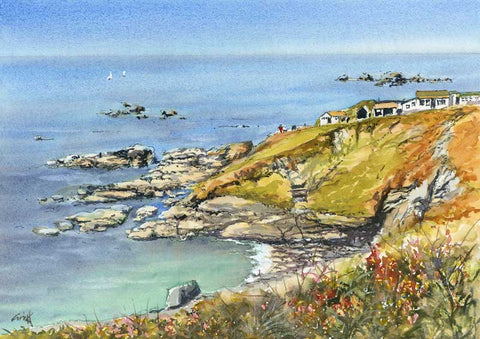 Lizard point. Signed print 8 x 6 inches
