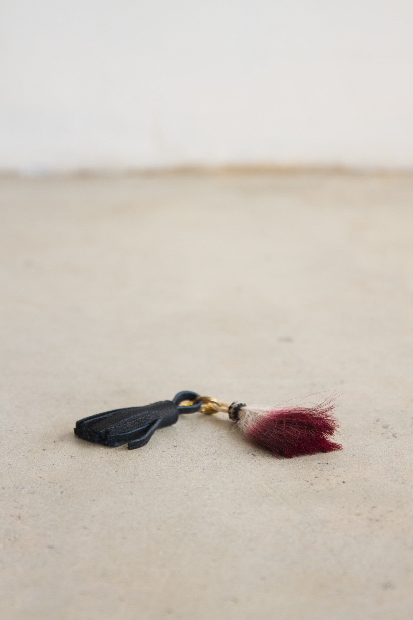 Morgan Parish Double Tassel Keychain